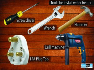tools for intall water heater